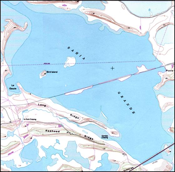 Bahia grande Map, Texas A&M Corpus Christi
